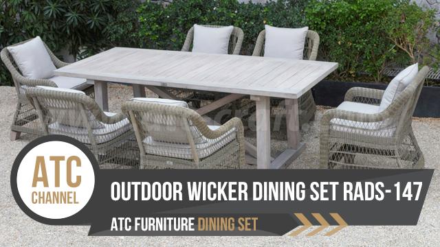 Outdoor rattan wicker dining set RADS-147 2018