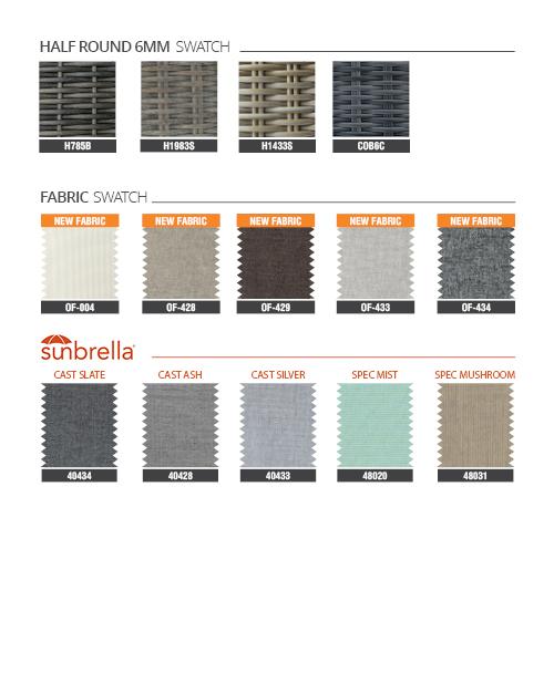 Gray Wicker Patio Sofa Set RASF-045A Style 1 Materials