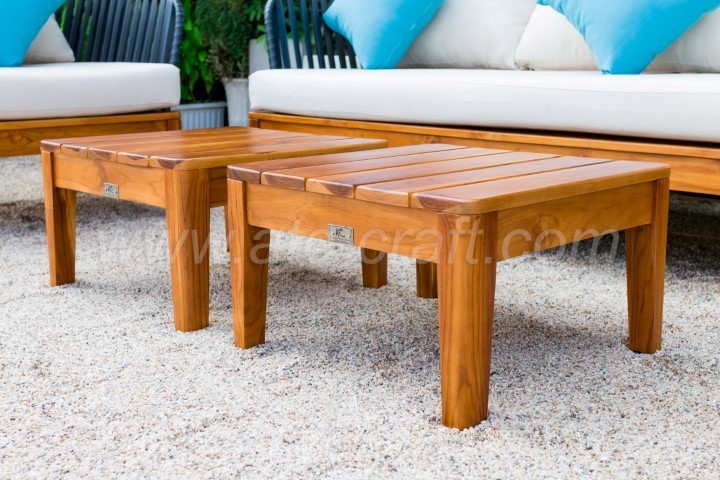 Outdoor Garden Sofa Set From Rope And Teak Wood Rasf 111 Style 2