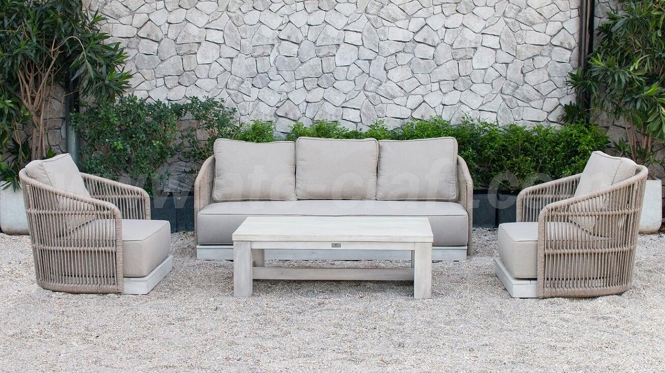 Minimalist japanese style outdoor rope sofa set rasf 184