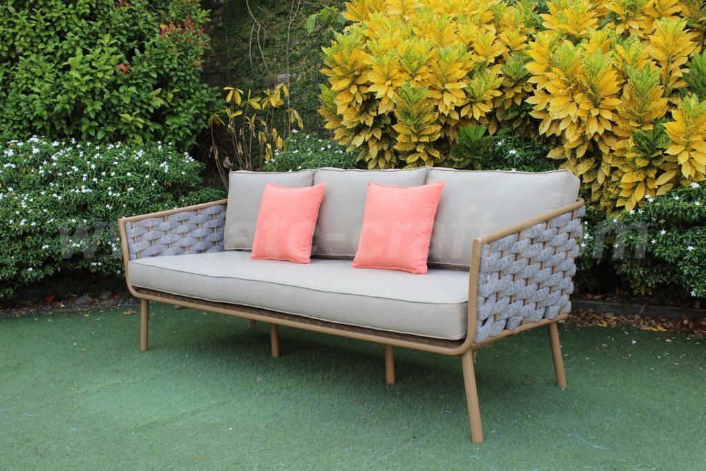 Wicker Triple Sofas Outdoor Conversation Set RASF-191