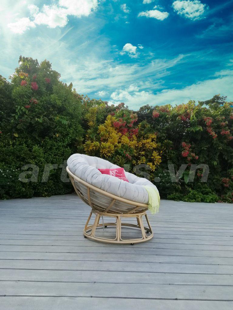 Papasan Relaxing Chair Outdoor Moon Chair