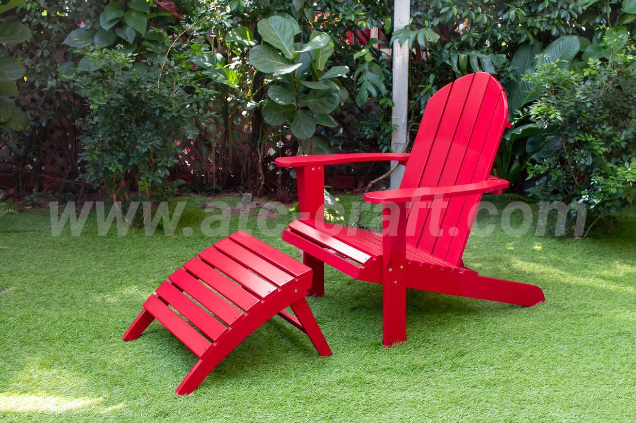 outdoor wooden muskoka chair for balcony